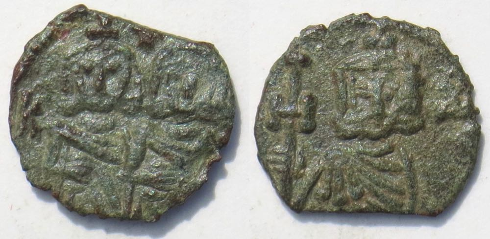 Coins: Ancient Lovely Heraclius Bronze 12 Nummi Of Alexandria Small Thick Flan Be Novel In Design