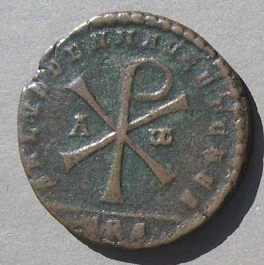 Christian Symbols On Roman Coins