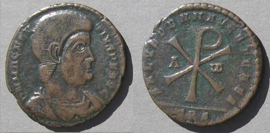 Christian Symbols On Roman Coins